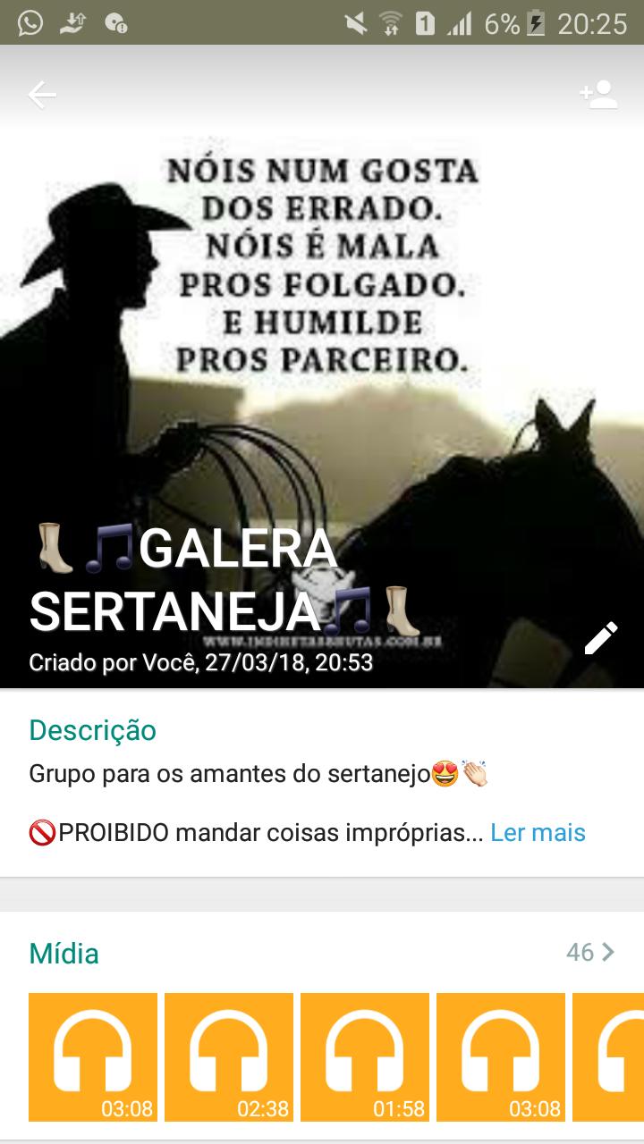 Galera Sertaneja Grupos De Zap Links De Grupos Do Whatsapp Para